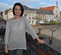 Katarzyna Potepa ist die Besch�ftigungspilotin f�r die Stadt Landau