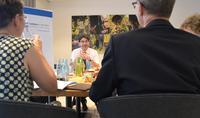 Oberb�rgermeister Thomas Hirsch lud die Medienvertreter zum �Sommer-Pressegespr�ch� ins Hotel Maximilians.