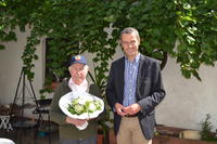 B�rgermeister Dr. Maximilian Ingenthron mit G�nther Lintz