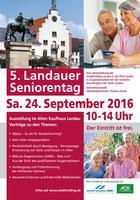 Am 42. September findet von 10 Uhr bis 14 Uhr der Landauer Seniorentag im Alten Kaufhaus statt