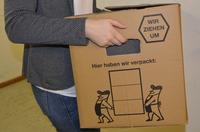 Die Umzugskartons sind bereits seit Ende vergangener Woche gepackt, seit Montag ziehen die Mitarbeiterinnen und Mitarbeiter des Sozialamts nun in die Friedrich-Ebert-Stra�e um