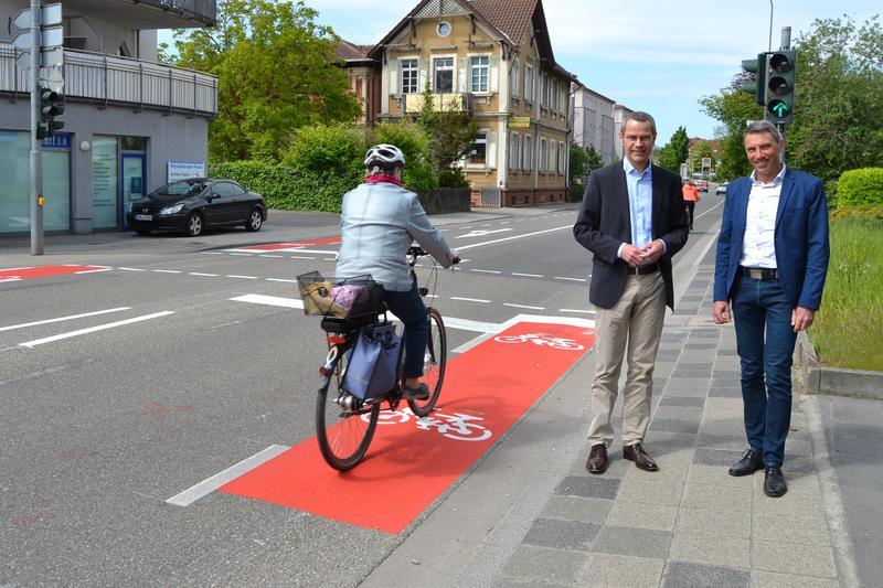Wichtiger Beitrag zur Optimierung des innerstädtischen (Rad)-Verkehrs: Veränderte Verkehrsführung am Knotenpunkt Zweibrücker Straße/ Annweilerstraße/Westbahnstraße