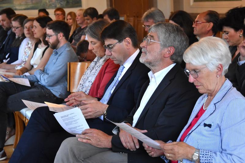 Für die besten wissenschaftlichen Arbeiten: Auch im vergangenen Jahr fand die Verleihung der Universitätspreise im Empfangssaal des Rathauses statt.