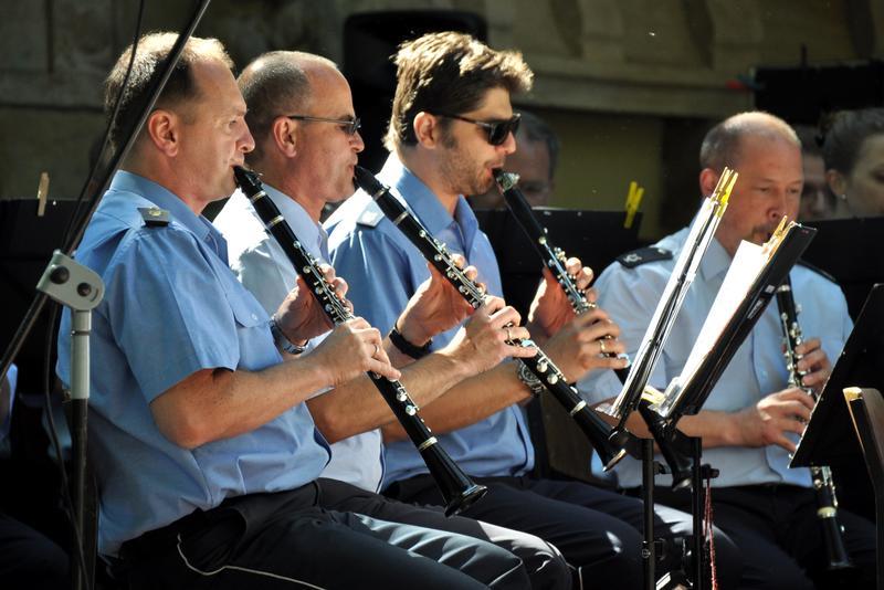 Das renommierte Landespolizeiorchester ist seit Jahren gerne gesehener Gast bei den Musikalischen Goetheparkplaudereien.
