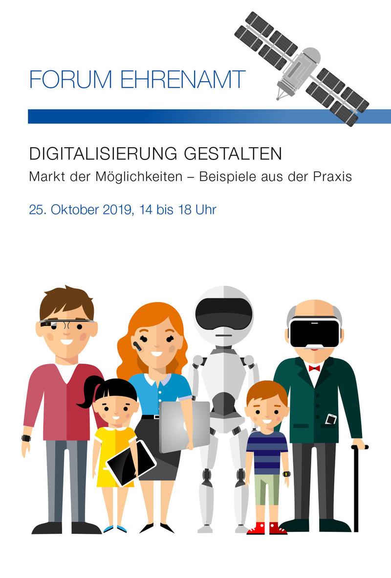"""#Gemeinsamdigital: Die Staatskanzlei Rheinland-Pfalz und die Versicherungskammer Stiftung laden am Freitag, 25. Oktober, gemeinsam zum """"Forum Ehrenamt: Digitalisierung gestalten""""."""