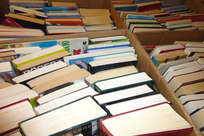 Große Auswahl: Ein Pfund Bücher gibt's beim traditionellen Bücherflohmarkt in der Landauer Stadtbibliothek bereits für 1 Euro.