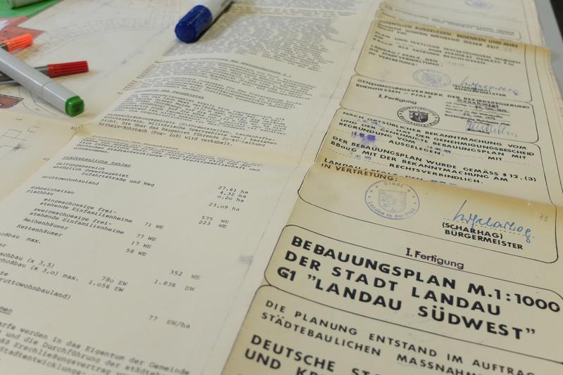 """Der aktuelle Bebauungsplan G1 sieht für den Bereich des """"Hofmeister-Geländes"""" in Landau noch eine rein gewerbliche Nutzung vor."""