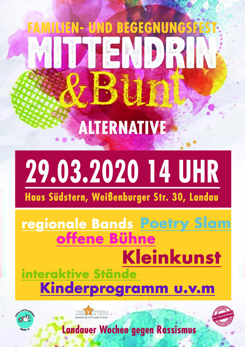 Plakat Mittendrin und Bunt Alternative